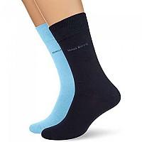 [해외]BOSS Rs Uni Colours Socks 2 Pairs Open Blue