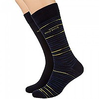 [해외]BOSS Rs Stripe Cc Socks 2 Pairs Dark Blue