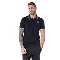 [해외]카파 Esmo Short Sleeve Polo Black / Dark Grey / White