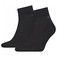 [해외]캘빈클라인 Quarter Socks 2 Pairs Black