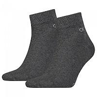 [해외]캘빈클라인 Quarter Socks 2 Pairs Dark Grey Melange