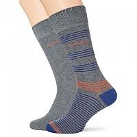 [해외]BOSS RS Stripe CC Socks 2 Pairs Medium Grey