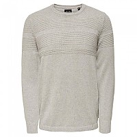 [해외]ONLY & SONS Bace Sweater Light Grey Melange