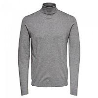 [해외]ONLY & SONS Wyler Life Roll Neck Sweater Medium Grey Melange
