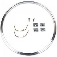 [해외]JW SPEAKER 410 Headlight Mounting Brushed Ring Kit 9137340966 Aluminium
