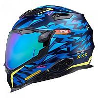 [해외]넥스 X.WST 2 Rockcity Full Face Helmet 9137764739 Blue / Neon Matte