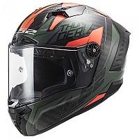 [해외]LS2 FF805 Thunder Carbon Chase Full Face Helmet 9137865432 Gloss Green / Orange