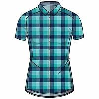 [해외]오들로 Kumano Check Short Sleeve Shirt 4136833002 Green / Grey