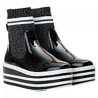 [해외]노네임 Boost Socks Patent Boots Black