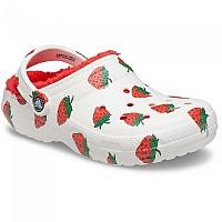 [해외]크록스 Classic Lined Vacay Vibes Unisex Clogs White Strawberry