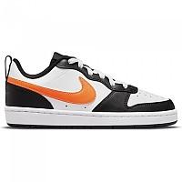 [해외]나이키 Court Borough Low 2 GS Trainers White / Total Orange / Black / Dk Smoke Grey