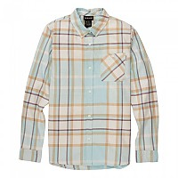 [해외]버튼 Grace Long Sleeve Shirt Iced Aqua Oversized Arrowhead Plaid