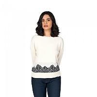 [해외]OXBOW N2 Parma Jacquard Details Sweater Salt