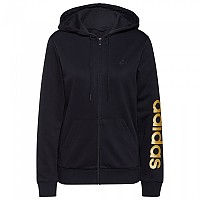 [해외]아디다스 Linear FT Full Zip Sweatshirt Black / Gold Metalic