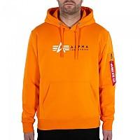 [해외]알파 인더스트리 Label Sweater Alpha Orange