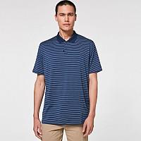 [해외]오클리 Jacquard Stripe Short Sleeve Polo Poseidon