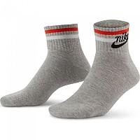 [해외]나이키 Sportswear Everyday Essential Ankle Socks Grey Heather / Black / White / Orange