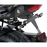 [해외]PUIG License Plate Holder Kawasaki Versys 1000 17-18 9138286866 Black