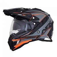 [해외]AFX FX-41DS Full Face Helmet 9136998746 Frost Grey / Neon Orange