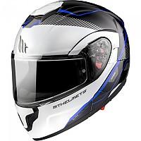 [해외]MT HELMETS Atom SV Opened Modular Helmet 9138277645 Gloss Pearl / Blue