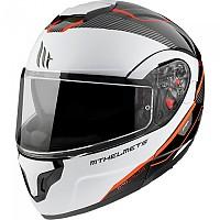 [해외]MT HELMETS Atom SV Opened Modular Helmet 9138277646 Gloss Pearl / Fluor Red