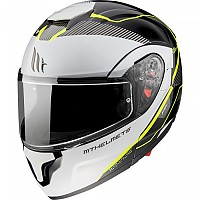 [해외]MT HELMETS Atom SV Opened Modular Helmet 9138277647 Gloss Pearl / Fluor Yellow