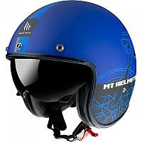[해외]MT HELMETS Le Mans 2 SV Cafe Racer Open Face Helmet 9138277661 Matt Blue