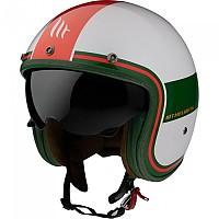 [해외]MT HELMETS Le Mans 2 SV Tant Open Face Helmet 9138277666 Gloss Pearl / Red / Green