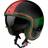 [해외]MT HELMETS Le Mans 2 SV Tant Open Face Helmet 9138277668 Gloss Red / Green