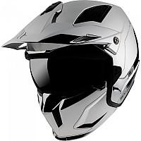 [해외]MT HELMETS Streetfighter SV Chromed Convertible Helmet 9138277691 Silver