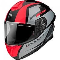 [해외]MT HELMETS Targo Pro Sound Full Face Helmet 9138277696 Gloss Fluor Red
