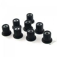 [해외]PUIG 14x6x1.5x13.5x15x10 mm Wellnuts With M5 Nut 25 Units 9138338019 Black
