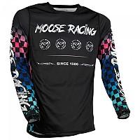 [해외]MOOSE SOFT-GOODS M1 F21 Long Sleeve Jersey 9138175230 Blue / Pink