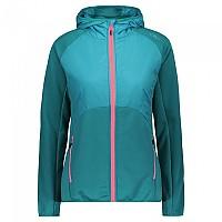 [해외]CMP Jacket Hooded Fleece 4138350201 Lake