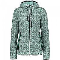 [해외]CMP Jacket Hooded Fleece 4138350207 Mint / White / Graphite
