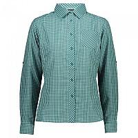 [해외]CMP Long Sleeve Shirt 4138352118 Lake / White