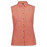 [해외]CMP Sleeveless Shirt 4138352256 Scarlet / White