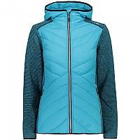 [해외]CMP Fix Hood Hybrid Jacket 4138353429 Turquoise
