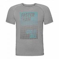 [해외]오들로 Aion Short Sleeve T-Shirt 4136522414 Grey Melange With Print