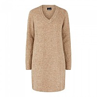 [해외]PIECES Ellen Long Sleeve V Neck Knit Dress Silver Mink