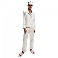 [해외]캘빈클라인 언더웨어 Long Sleeve Set Pyjama Buff Beige / Stripes