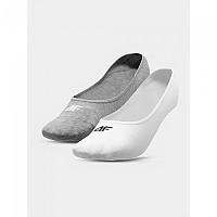 [해외]4F Socks Cold Light Grey Melange / White