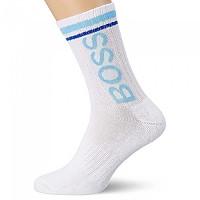 [해외]BOSS QS Rib Logo Pique White