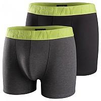 [해외]리플레이 Style5 Trunk 2 Units Dark Grey Melange / Black / Lime Green