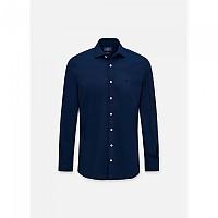 [해외]HACKETT Gmt Dyed Stretch Pop Long Sleeve Shirt Navy
