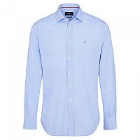 [해외]HACKETT Mini Gingham Eng Stripe Long Sleeve Shirt White / Blue