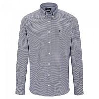 [해외]HACKETT Pinpoint Gingham Long Sleeve Shirt Navy / White