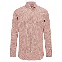 [해외]HACKETT Pinpoint Gingham Long Sleeve Shirt Rust / White