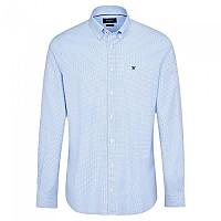 [해외]HACKETT Pinpoint Gingham Long Sleeve Shirt Sky / White