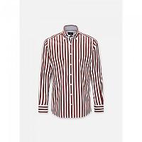 [해외]HACKETT Wide Butchers Stripe Long Sleeve Shirt White / Rose
